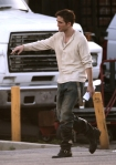 Rob Pattinson on set for WFE re-shoots~1/14/11