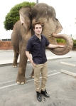 Tai poses with the Water for Elephants cast during promos: April 2, 2011